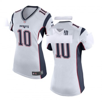 Women's Nike New England Patriots Damiere Byrd White Jersey - Game