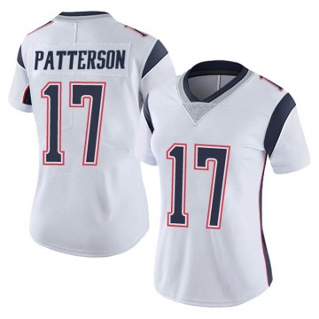 Women's Nike New England Patriots Damoun Patterson White Vapor Untouchable Jersey - Limited