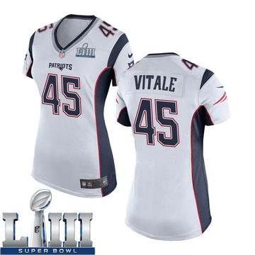 Women's Nike New England Patriots Danny Vitale White Super Bowl LIII Jersey - Game