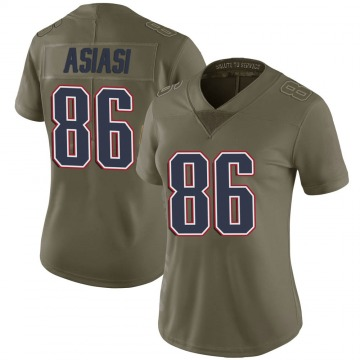 Women's Nike New England Patriots Devin Asiasi Green 2017 Salute to Service Jersey - Limited