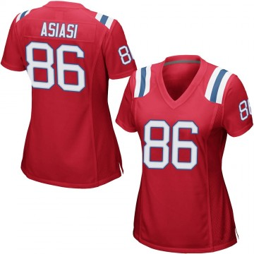 Women's Nike New England Patriots Devin Asiasi Red Alternate Jersey - Game