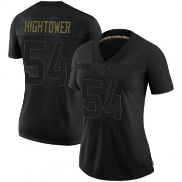 Women's Nike New England Patriots Dont'a Hightower Black 2020 Salute To Service Jersey - Limited