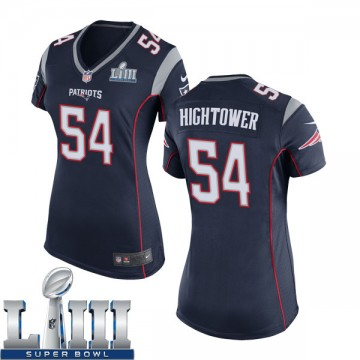 Women's Nike New England Patriots Dont'a Hightower Navy Blue Team Color Super Bowl LIII Jersey - Game