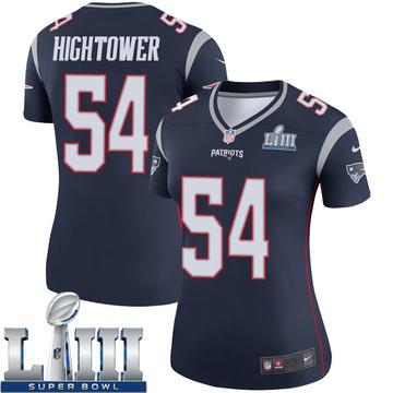 Women's Nike New England Patriots Dont'a Hightower Navy Super Bowl LIII Jersey - Legend
