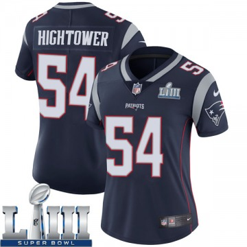 Women's Nike New England Patriots Dont'a Hightower Navy Team Color Super Bowl LIII Vapor Untouchable Jersey - Limited