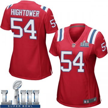 Women's Nike New England Patriots Dont'a Hightower Red Alternate Super Bowl LIII Jersey - Game