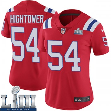 Women's Nike New England Patriots Dont'a Hightower Red Super Bowl LIII Vapor Untouchable Alternate Jersey - Limited