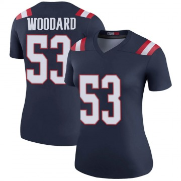 Women's Nike New England Patriots Dustin Woodard Navy Color Rush Jersey - Legend