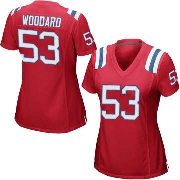 Women's Nike New England Patriots Dustin Woodard Red Alternate Jersey - Game