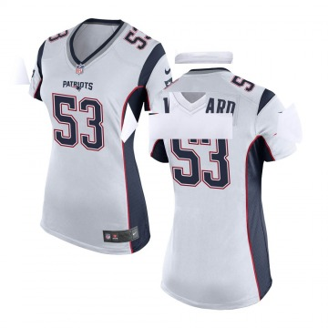 Women's Nike New England Patriots Dustin Woodard White Jersey - Game