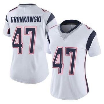 Women's Nike New England Patriots Glenn Gronkowski White Vapor Untouchable Jersey - Limited
