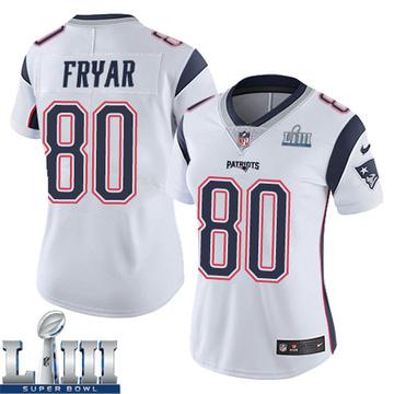 Women's Nike New England Patriots Irving Fryar White Super Bowl LIII Vapor Untouchable Jersey - Limited