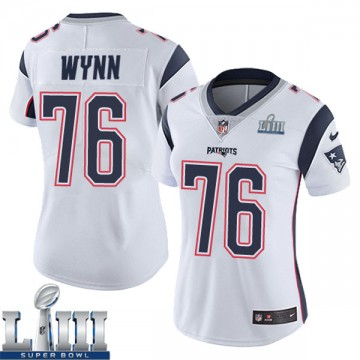 Women's Nike New England Patriots Isaiah Wynn White Super Bowl LIII Vapor Untouchable Jersey - Limited