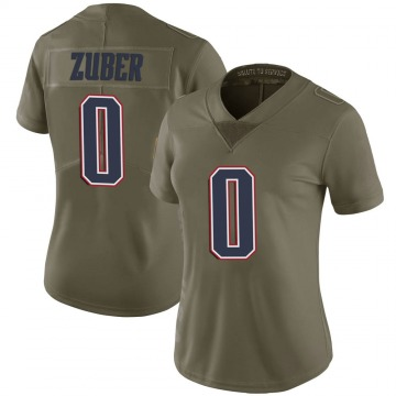 Women's Nike New England Patriots Isaiah Zuber Green 2017 Salute to Service Jersey - Limited
