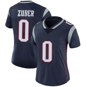 Women's Nike New England Patriots Isaiah Zuber Navy 100th Vapor Jersey - Limited