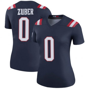 Women's Nike New England Patriots Isaiah Zuber Navy Color Rush Jersey - Legend