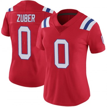 Women's Nike New England Patriots Isaiah Zuber Red Vapor Untouchable Alternate Jersey - Limited