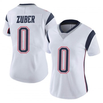 Women's Nike New England Patriots Isaiah Zuber White Vapor Untouchable Jersey - Limited