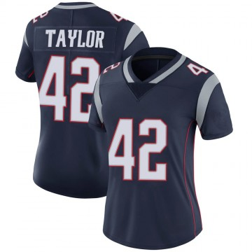 Women's Nike New England Patriots J.J. Taylor Navy 100th Vapor Jersey - Limited