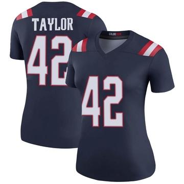Women's Nike New England Patriots J.J. Taylor Navy Color Rush Jersey - Legend