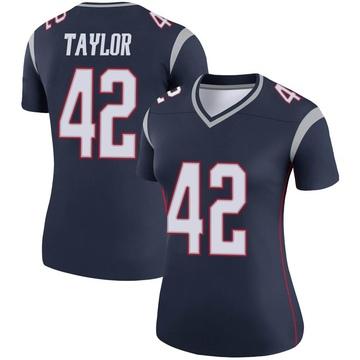 Women's Nike New England Patriots J.J. Taylor Navy Jersey - Legend