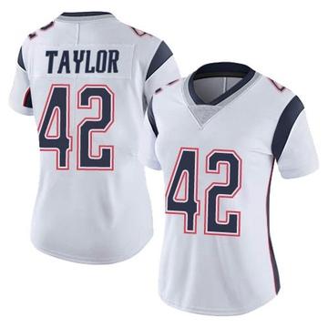 Women's Nike New England Patriots J.J. Taylor White Vapor Untouchable Jersey - Limited