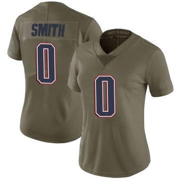 Women's Nike New England Patriots J'Mar Smith Green 2017 Salute to Service Jersey - Limited