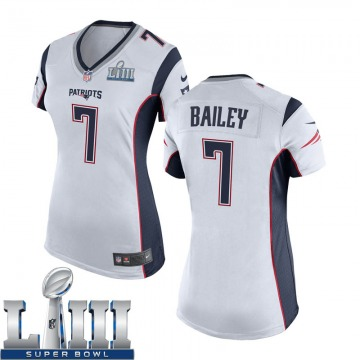 Women's Nike New England Patriots Jake Bailey White Super Bowl LIII Jersey - Game