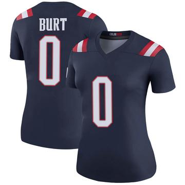 Women's Nike New England Patriots Jake Burt Navy Color Rush Jersey - Legend