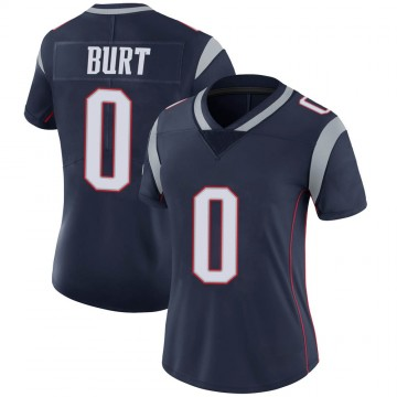 Women's Nike New England Patriots Jake Burt Navy Team Color Vapor Untouchable Jersey - Limited