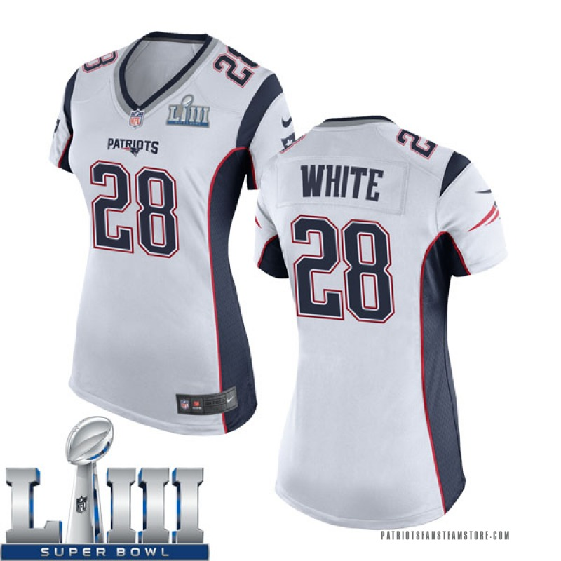 save off 85ac5 2a481 Women's Nike New England Patriots James White White Super Bowl LIII Jersey  - Game