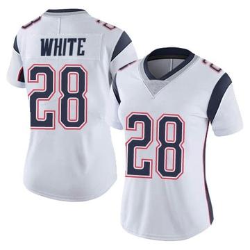 Women's Nike New England Patriots James White White Vapor Untouchable Jersey - Limited