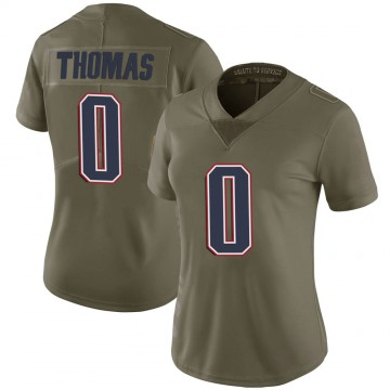 Women's Nike New England Patriots Jeff Thomas Green 2017 Salute to Service Jersey - Limited