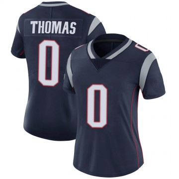 Women's Nike New England Patriots Jeff Thomas Navy 100th Vapor Jersey - Limited