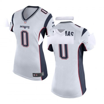 Women's Nike New England Patriots Jeff Thomas White Jersey - Game