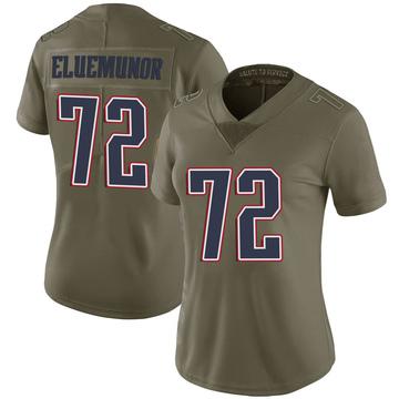Women's Nike New England Patriots Jermaine Eluemunor Green 2017 Salute to Service Jersey - Limited