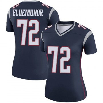 Women's Nike New England Patriots Jermaine Eluemunor Navy Jersey - Legend