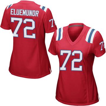 Women's Nike New England Patriots Jermaine Eluemunor Red Alternate Jersey - Game
