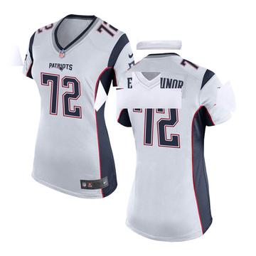 Women's Nike New England Patriots Jermaine Eluemunor White Jersey - Game