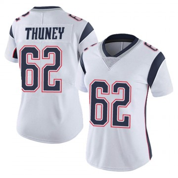 Women's Nike New England Patriots Joe Thuney White Vapor Untouchable Jersey - Limited