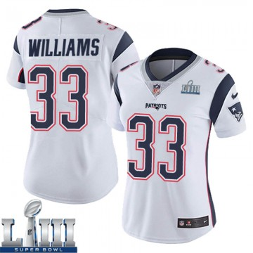 Women's Nike New England Patriots Joejuan Williams White Super Bowl LIII Vapor Untouchable Jersey - Limited
