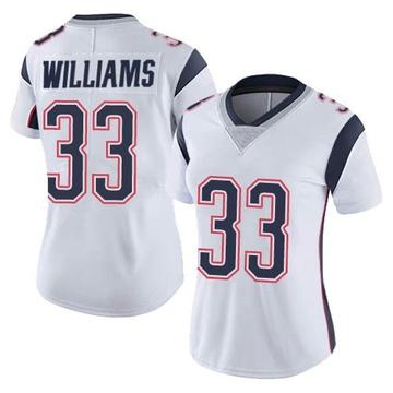 Women's Nike New England Patriots Joejuan Williams White Vapor Untouchable Jersey - Limited