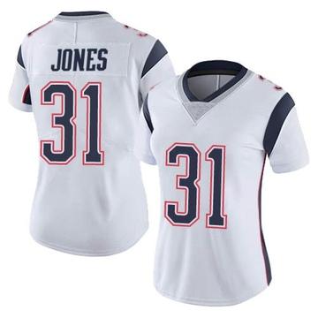 Women's Nike New England Patriots Jonathan Jones White Vapor Untouchable Jersey - Limited