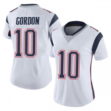 Women's Nike New England Patriots Josh Gordon White Vapor Untouchable Jersey - Limited