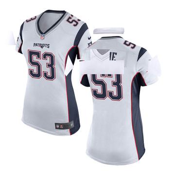 Women's Nike New England Patriots Josh Uche White Jersey - Game