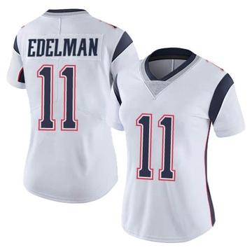 Women's Nike New England Patriots Julian Edelman White Vapor Untouchable Jersey - Limited