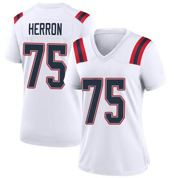 Women's Nike New England Patriots Justin Herron White Jersey - Game