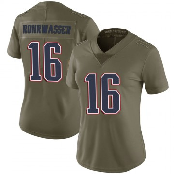Women's Nike New England Patriots Justin Rohrwasser Green 2017 Salute to Service Jersey - Limited