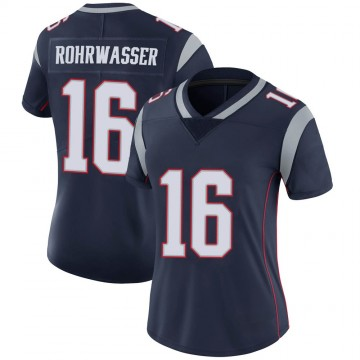 Women's Nike New England Patriots Justin Rohrwasser Navy Team Color Vapor Untouchable Jersey - Limited
