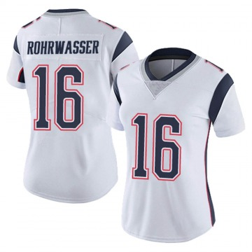 Women's Nike New England Patriots Justin Rohrwasser White Vapor Untouchable Jersey - Limited